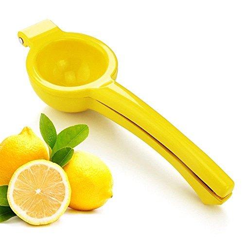Best Lemon Lime Squeezer, Enameled Aluminum Yellow, Manual Citrus Press Juicer