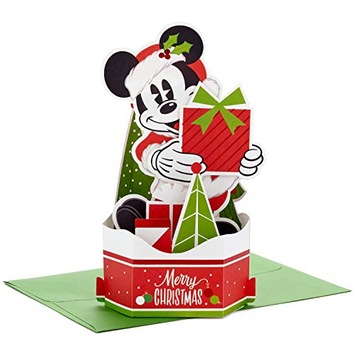 Hallmark Paper Wonder Mickey Mouse Displayable Pop Up Christmas Card (Santa Claus) (799XXH3284)