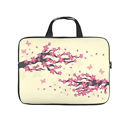 Funda protectora para portátil a prueba de polvo, diseño de flores de cerezo japonés, ideal como regalo a medida, Blanco, 10 pulgadas,
