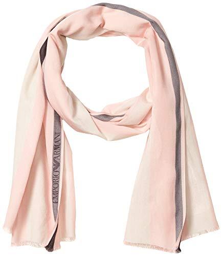 Emporio Armani Damen Striped Scarf Modischer Schal, Aquarelle Pinko, Einheitsgröße