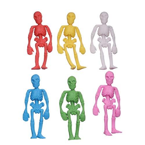 TOYANDONA 36 Pcs Stretchy Man Toy Sensory Fidget Toys Halloween Skeleton Decorations Decompression Toys Funny Squeeze Ball Halloween Goody Bag Filler (Random Colors)