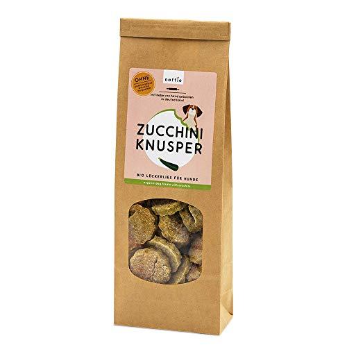 naftie Bio Leckerlies Zucchini Knusper Hundekekse   nur für artige Hunde   vegane Hundeleckerli mit Buchweizenmehl, Zucchini & Basilikum   glutenfrei   handgebacken   natürlich   ohne Zucker   200g