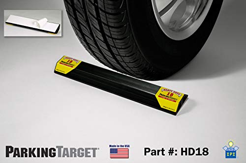 PARKING TARGET HD18: Heavy Duty ParkingTarget - Parking Aid Protects Car and Garage Walls - Easy to Install – Peel n Stick - Only 1 Needed per Vehicle – Engineered to Outlast your Vehicle - Great Gift