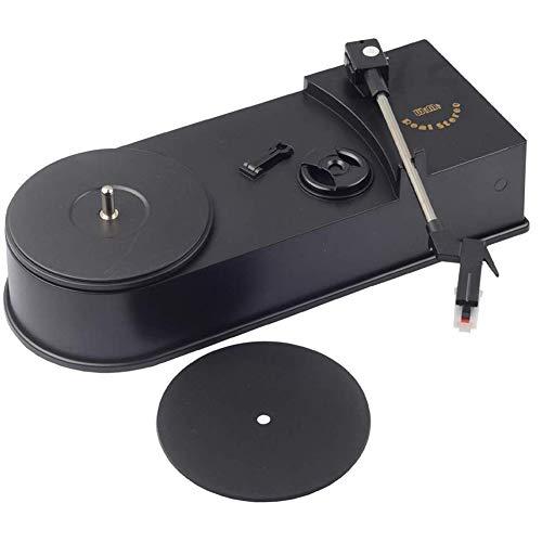 Boenxuan Mini Retro USB Plattenspieler Plattenspieler, Mit Lautsprecher Vinyl Plattenspieler Audio Player Plattenspieler Konvertieren Sie,Schwarz