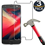 [3 Pack] Moto Z2 Play Screen Protector Tempered Glass,[9H Hardness][Ultra Clear][Anti Scratch][Bubble Free] HD Clear Moto Z2 Play Tempered Glass Screen Protector Film for Moto Z2 Play