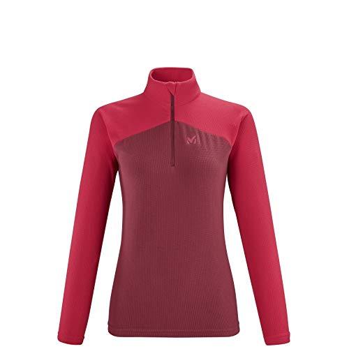 MILLET K Lightgrid PO W Fleece Jacket, Tibetan Red/Tango, L Womens