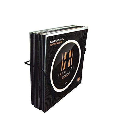 Glorious Vinyl Set Holder smart - minimalistisch im Design, extra leicht konstruiert, ideal für Heimstudio oder Plattenladen, schwarz