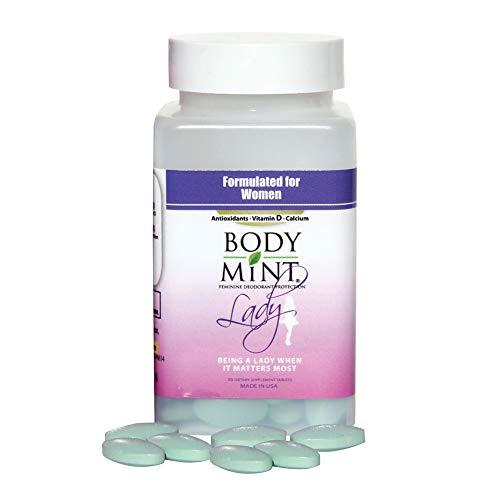 Body Mint Lady for Feminine Deodorant Protection 60 tabs