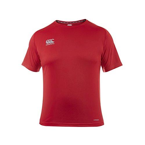 Canterbury Vapodri Superléger T-Shirt Homme, Rouge Vif, FR (Taille Fabricant : 2XL)