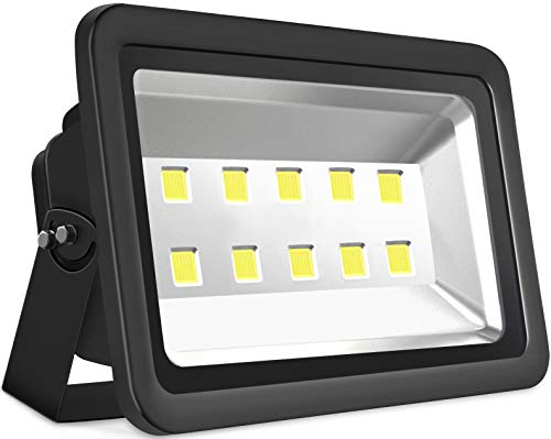 SZPIOSTAR 500W Outdoor LED Flood Light, Super Bright 50000lm, Daylight White 6000K, Waterpoof IP65, 50,000hrs Lifetime, All Weather Lighting Fixtures for Sport Court Yard Arena Parking Lot