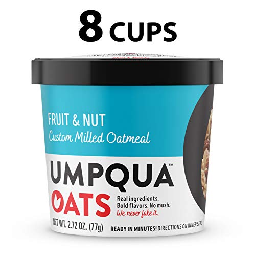 Umpqua Oats All Natural Oatmeal Cups Fruit and Nut 8 Count