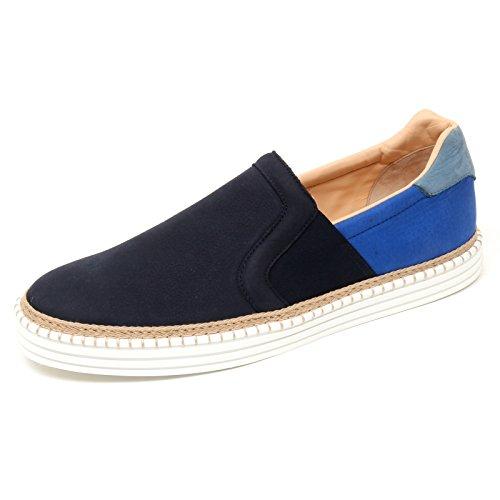 C9928 sneaker uomo HOGAN REBEL R260 scarpa slip on blu shoe man
