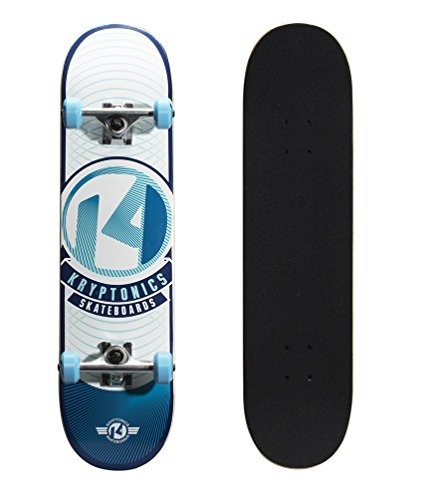 "Kryptonics Pop Series 31"" Skateboard, Sky Blue-Rays"