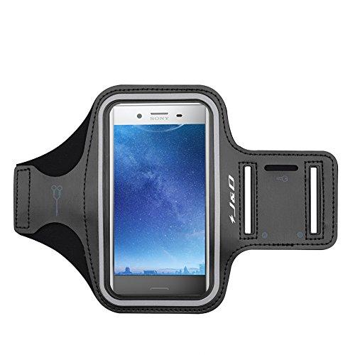 J&D Kompatibel für Nokia 7.2/6.2/5.3/3.4/2.4/X71/Sony Xperia XZ Premium Armband, Sportarmband für 2 Running Armband, Zusätzliche Tasche für Schlüssel