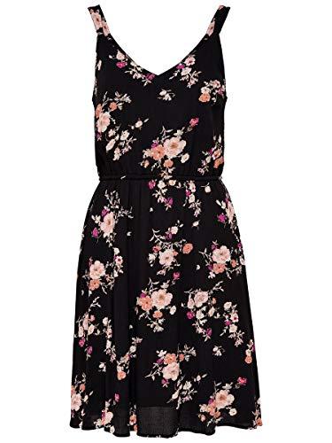 ONLY Damen Kleid ohne Ärmel Blumenprint 36Black