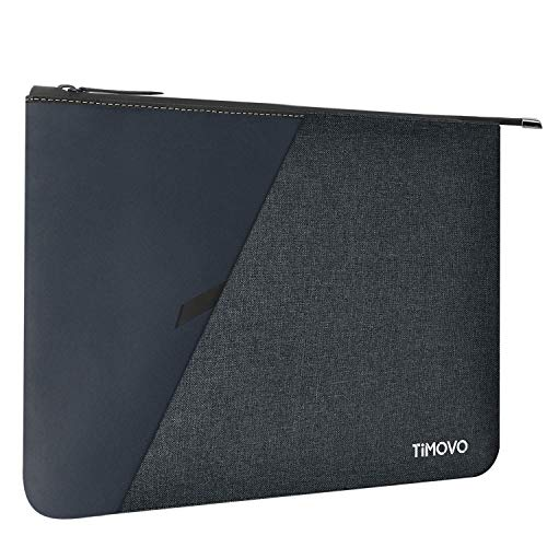 TiMOVO 9-11 Inch Tablet Sleeve Case Compatible with 2020 iPad Air 4 10.9, iPad Pro 11 2018-2021, iPad 10.2, Galaxy Tab A7 10.4, S6 Lite 2020, Surface Go 2/1, Waterproof Protective Bag, Dark Blue&Gray