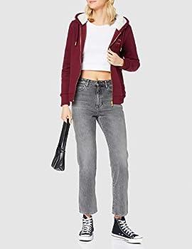 Superdry Established Zip Hood Pull Cardigan, Deep Port, M (Taille Fabricant:12) Femme