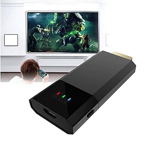 QingH yy 4K HDMI Adaptador de dongle de Pantalla inalámbrica, HD Adaptador inalámbrico, WiFi Streaming Video Receptor para iPhone/iPad/iOS/Androide/Ordenador Personal/Macos para TELEVISOR/Proyector /