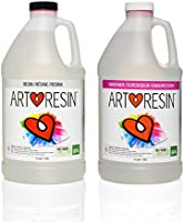 ArtResin - Epoxy Resin - Clear - Non-Toxic - 1 Gal (0.5 gal Resin + 0.5 gal Hardener) (3.78 L)