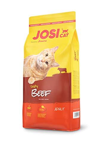 JosiCat Tasty Beef (1 x 10 kg), Premium Trockenfutter für ausgewachsene Katzen, Katzenfutter, powered by JOSERA, 1er Pack