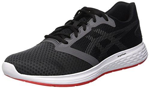Asics Patriot 10 Zapatillas de Running Hombre, Multicolor (Dark Grey/Red Alert 021), 44 EU