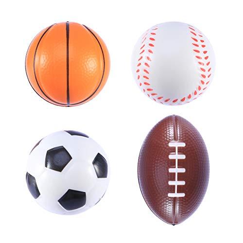 LIOOBO 12 STÜCK 6,3 cm Langsam Steigenden Kawaii Fußball Basketball Baseball Prime Spielzeug für Kinder Erwachsene Weichen Duftenden Dekorationen Stressabbau
