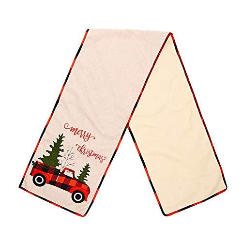 Camino de mesa de Navidad, 1 pieza de decoración de mantel de Navidad para decoración de mesa de cena de Navidad (35 x 180 cm)
