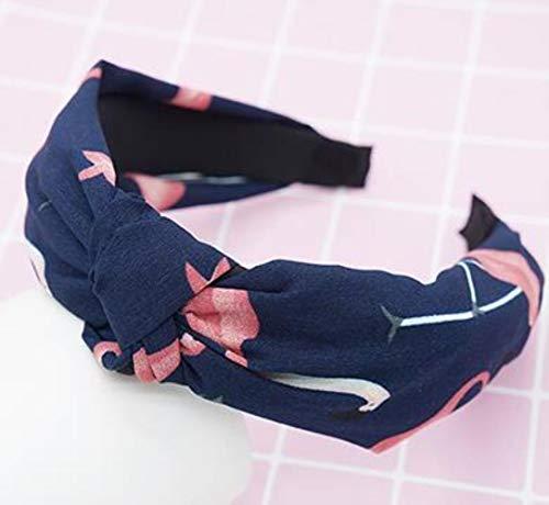 FISISZ Croisé Noué Femmes Cheveux Accessoires Couleur Unie Large Noué Bandeau Rétro Simple Tissu Tête Boucle Presse Chapeaux, comme Image 31