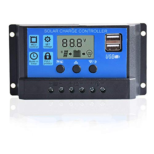 10A Solarladeregler Solar Panel Batterie Intelligente Regler USB Port Display 12 V / 24 V