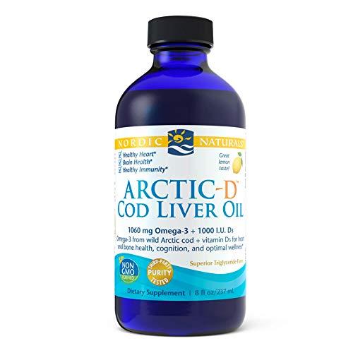Nordic Naturals Arctic-D Aceite de Hígado de Bacalao, Limón 237 ml