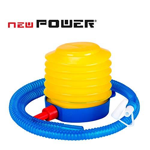 NEWPOWER - Hinchador de Pie Manual, Ideal para Fitball, Semiesferas de Equilibrio y Flotadores. Inflador de pie Ligero y Compacto con Boquilla de ø12mm. Bomba de Aire de Pie con Función Desinflado