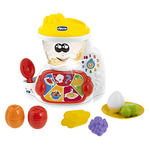 Chicco- ABC Cooky El Robot De Cocina Bilinggui, Colore Bianco e Rosso, 00010197000040