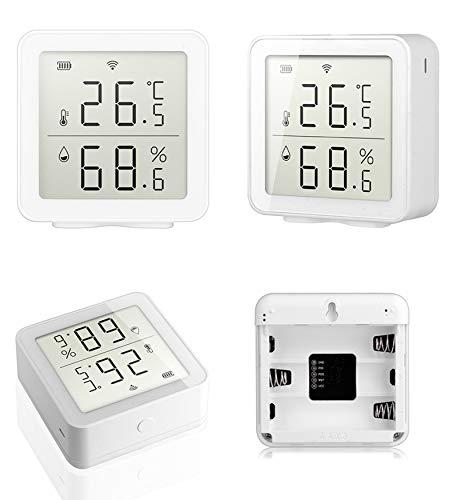 HANLL WiFi Genaues digitales Thermometer-Hygrometer, Smart Home Innentemperatur- und Feuchtigkeitssensor / -Monitor, drahtloser Temperatursensor Kompatibel mit Alexa, Google Home
