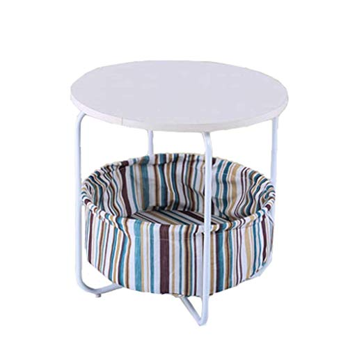 WYZQ Pequeña Mesa de Centro Simple Mini Sala de Estar pequeña sofá gabinetes de Esquina Laterales Cama Moderna Mesa Redonda pequeño Volumen (Color: A), Posavasos Taza