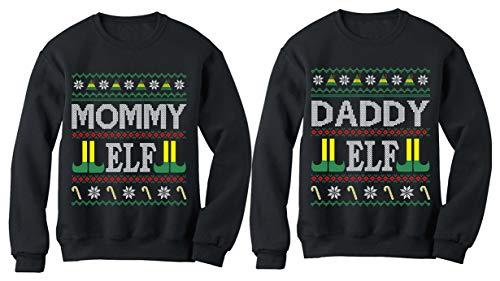 Moletons natalinos combinando Mommy Daddy Elf Ugly Christmas Funny Xmas Elf Family, Daddy Elf / Mommy Elf, Daddy Elf X-Large / Mommy Elf XX-Large