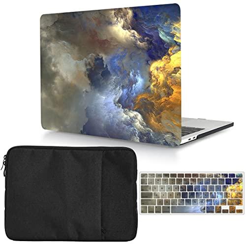 Custodia protettiva compatibile con MacBook Pro 15' 2019 2018 2017 2016 Release A1990 A1707 con Touch Bar, cover rigida in plastica e custodia per laptop e tastiera - Cloud
