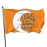 anemone store Amerikanische Fuß-Flagge der Fliegen-Brisen-3x5 - ich Liebe Meinen Hund zum Mond und zur Rückseite.
