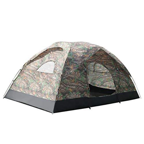 LI MING SHOP-Tents tentes extérieur 380 * 220 * 180 cm Tente extérieure Tente de Camping 8–10 Personnes Grand Espace Manuel de Double Tente imperméable Crème Solaire Tente + +
