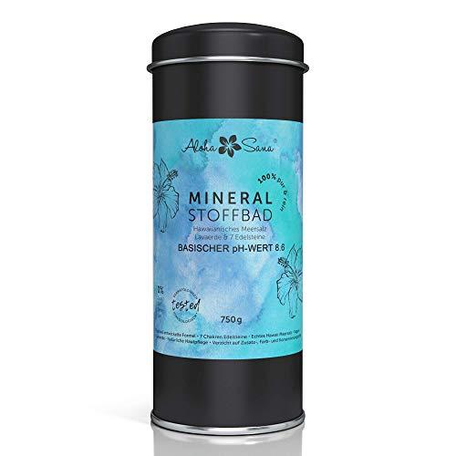 Aloha Sana | Basenbad ohne Zusatz- und Farbstoffe | basisches Pulver aus hawaiianischem Salz (Meersalz) und Lavaerde | Badezusatz für Vollbad, Fußbad, Dusche, Strümpfe und Wickel (750g)…