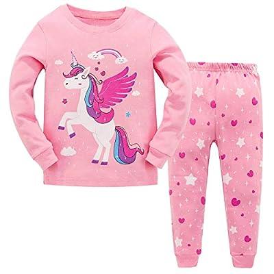 Garsumiss Pijamas para Niña Dos Piezas de Unicornio Manga Larga Invierno Pijama 2-12 Años, Estilo 3, 8 Años