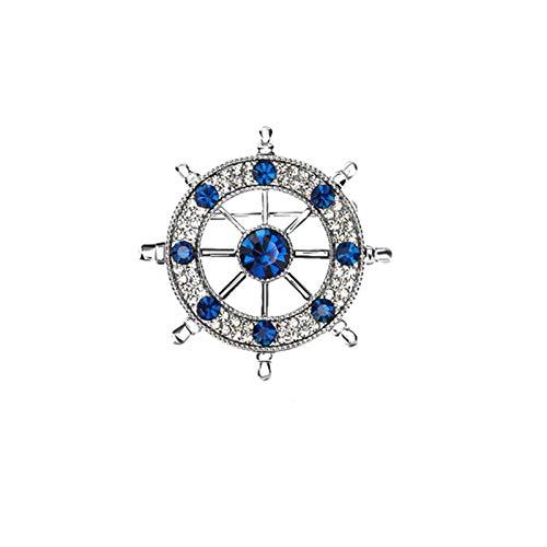 WANBAO Exquisite Brooch Herrenbrosche, Herrenjacke Klassische Vintage-Pin, Freund Geburtstagsgeschenk Jährliche Party Geschenk für Herrenzubehör Navy Segelboot Ruderbrosche (Farbe: a) (Color : A)