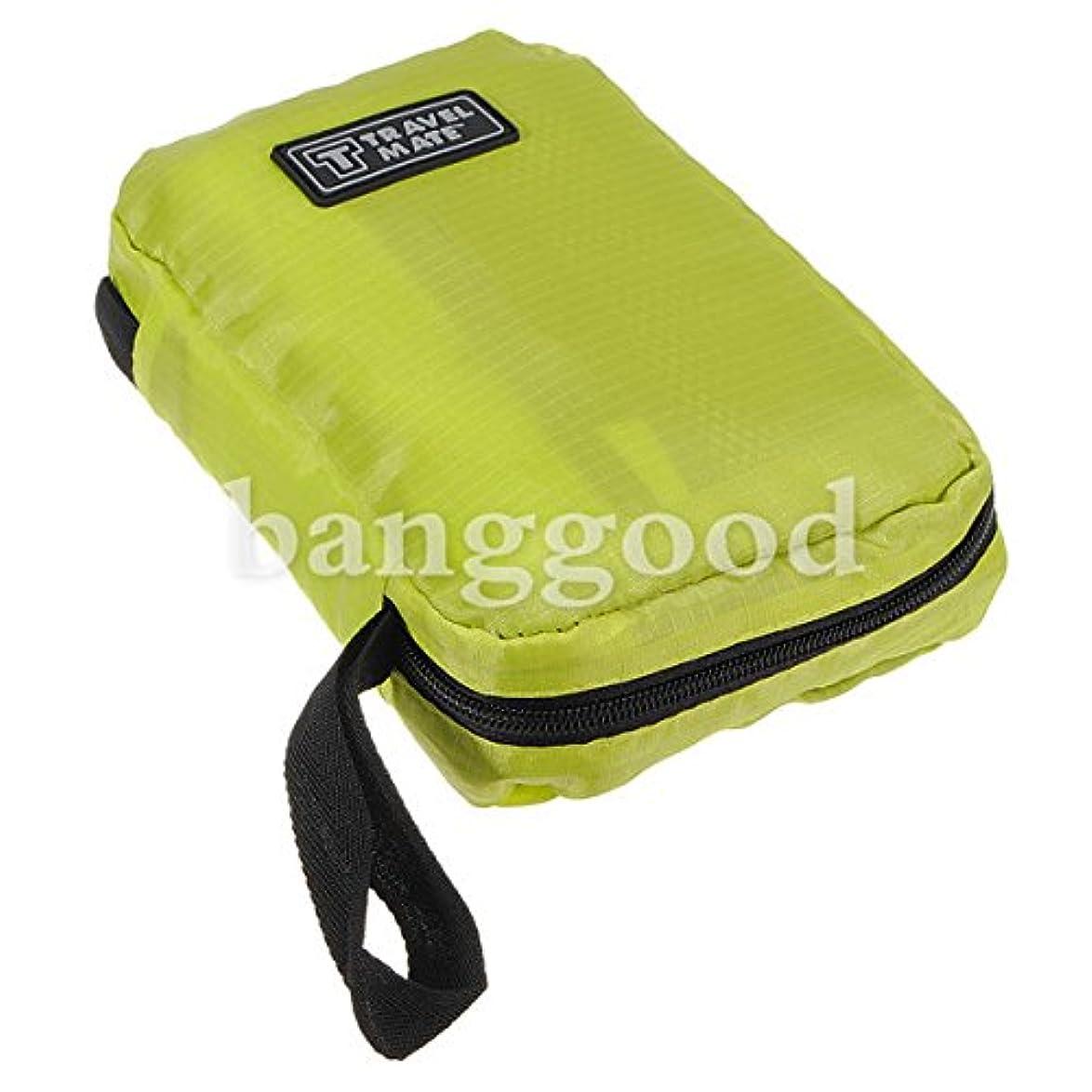 GUQQRZCT 旅行ナイロンウォッシュバッグ収納オーガナイザーメッシュジッパー (Color : Color Green)
