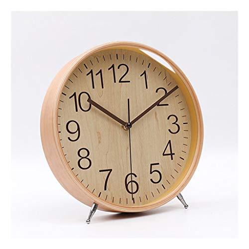 Relojes de escritorio Pequeños relojes de escritorio sala de estar decoración reloj reloj dormitorio casa mesita de noche reloj silencioso escritorio reloj ornamentos redondos 9 pulgadas Despertador