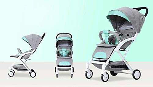 LAMTON Baby Stroller for Newborn, Stroller, Lightweight Pushchair Compact Buggy Foldable Suitable for Airplane,49x71x104cm (Color : Gray) LAMTON Adjustable handlebars for people of all heights can adjust the most comfortable push position Easy to fold, can be picked up in the trunk of the car, his parents urge him to go shopping, travel, walk, play and talk, or picnic outdoors - Quick folding system. It can be operated with one hand and folded with a lever to stand. The weight is 5.8KG and is light! 4
