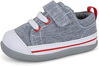 See Kai Run, Stevie II First Walker Sneakers for Infants, Gray Jersey, 3 Infant