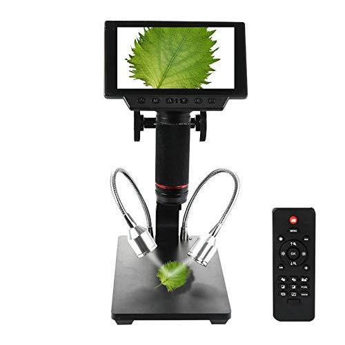 ZTT Industrielle Inspektion Digital-Mikroskop, 5-Zoll-Bildschirm Industrial Maintenance USB Digital Mikroskop mit Tasten der Fernbedienung und IR-Adjustable Display-Lupe-Reparatur
