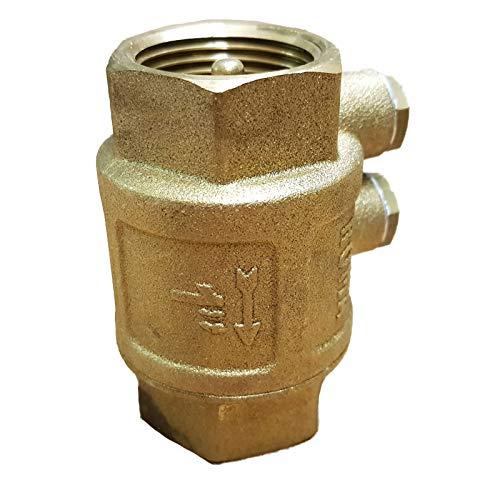 Rückschlagventil 1 Zoll (33mm) mit doppelter Entlüftung - mit Messingklappe für Brunnen Saugschlauch Hauswasserwerk Schwengelpumpe Gartenpumpe -Qualität vom Fachmann ! … (1 Zoll (33mm))