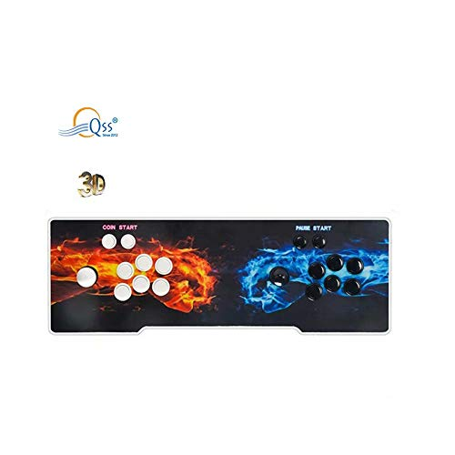 QSs- 3D Pandora Retro Arcade Game Console   2255 Retro HD Games  Support Multiplayers   Add More Games   HDMI/VGA/USB