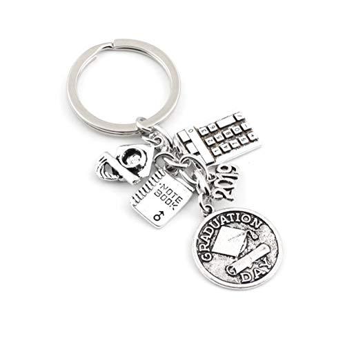 HXYKLM sleutelhanger, vintage, rekenmachine, laptop, sleutelhanger, voor scholieren, scholieren, scholieren, dag, sieraden, school