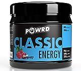 POWRD® CLASSIC ENERGY Blue Raspberry - 320g 40 Portionen – Himbeere - Gaming Energy & Pre Workout Booster Drink Pulver - für mehr Konzentration beim Gaming, Training, Lernen oder Arbeiten